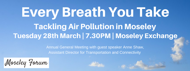 Every Breath You Take - Tackling Air Pollution in Moseley